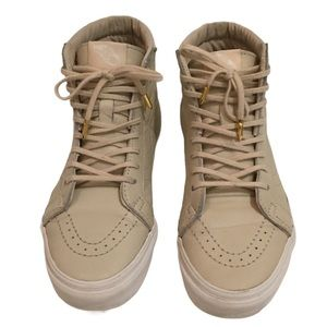 Vans Off The Wall High Top Leather Beige Unisex
